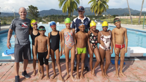 Willy Gonzalez and the Jr Cuban Triathlon Squad